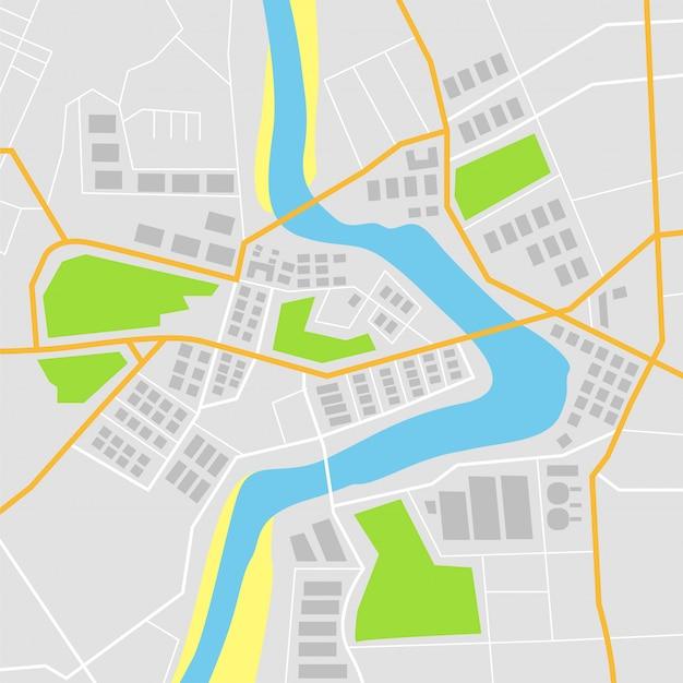 Carte plate avec illustration vectorielle Vecteur Premium