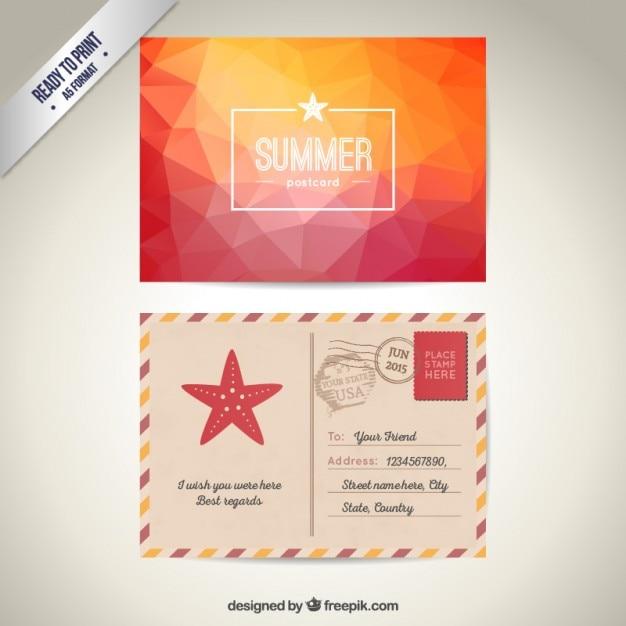 Carte postale d'été | Télécharger des Vecteurs gratuitement