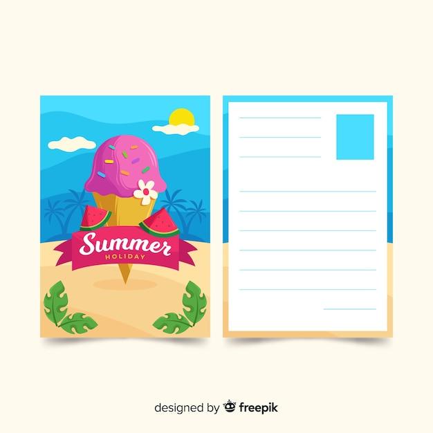 Carte Postale De Vacances | Vecteur Gratuite