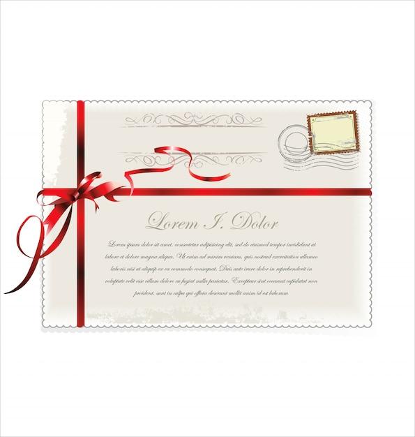 Carte postale Vecteur Premium