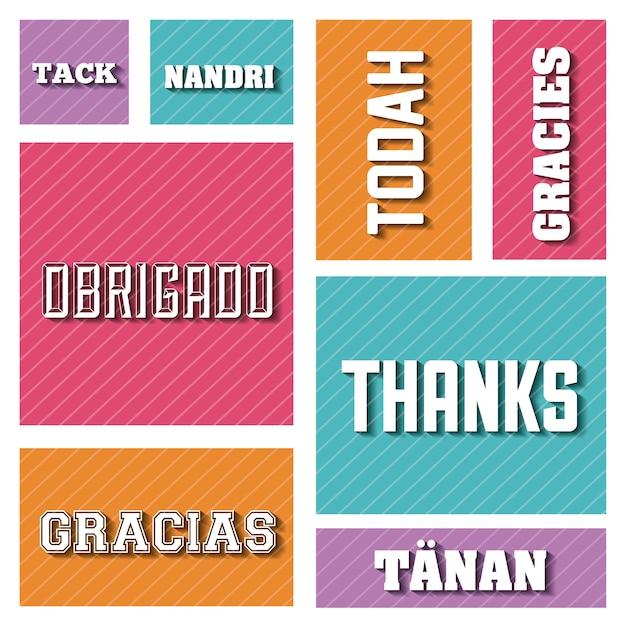 Carte de remerciements, illustration vectorielle illustration eps10 Vecteur Premium