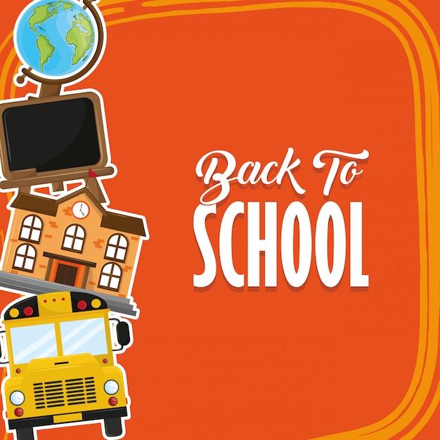 Carte de rentrée scolaire Vecteur gratuit