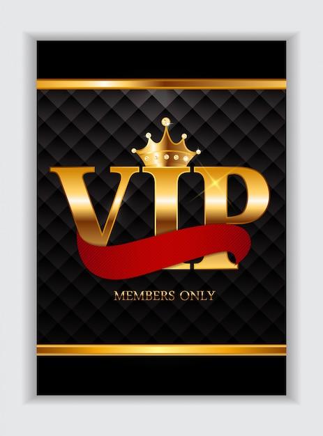 Carte réservée aux membres vip de luxe abstraits Vecteur Premium