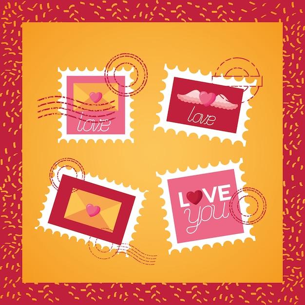Carte de saint valentin Vecteur Premium