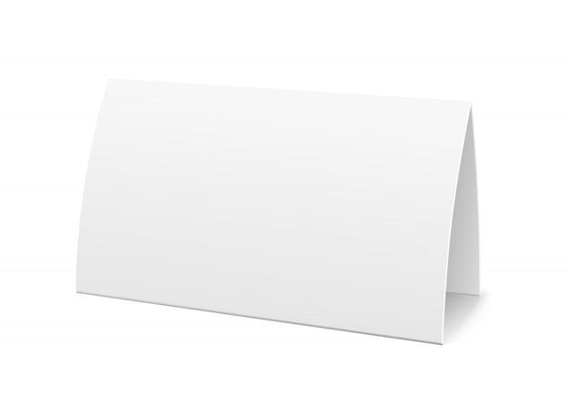 Carte De Table De Papier, Modèle De Signe Vecteur gratuit