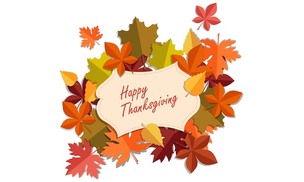 Carte de thanksgiving Vecteur Premium