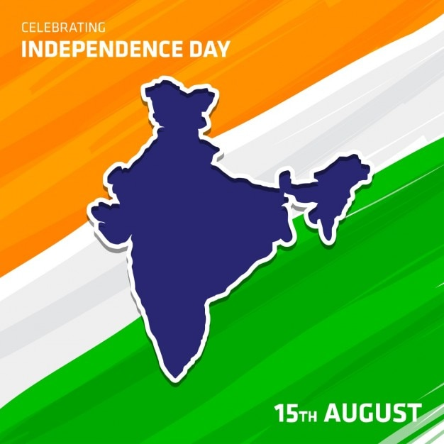 Carte vecteur inde indien avec fond de drapeau Vecteur gratuit