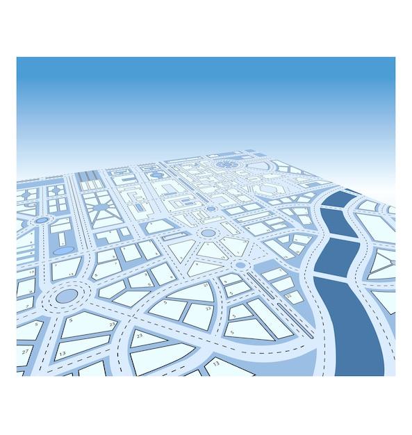 Carte vectorielle isométrique de la ville Vecteur Premium