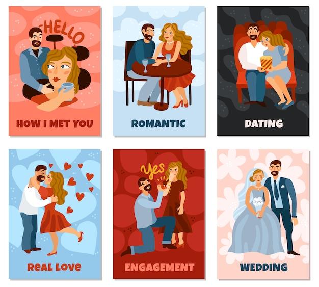 Carte Verticale De Développement De Relations Amoureuses Vecteur gratuit