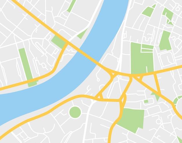 Carte De La Ville. Illustration Vectorielle Vecteur Premium