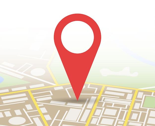 Carte De La Ville Avec Marqueur, Icône Vectorielle Vecteur Premium