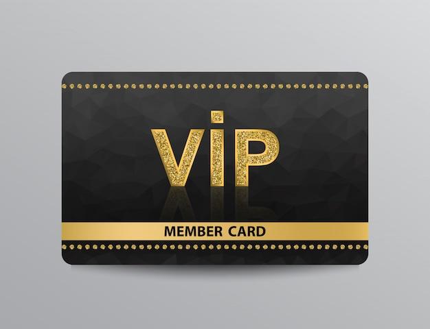 Carte vip doré avec rivets Vecteur Premium