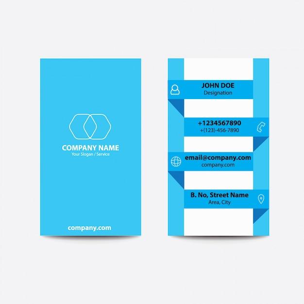 Carte De Visite Daffaires Couleur Bleu Clair Style Pli