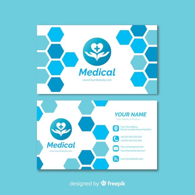 Carte de visite créative avec concept médical Vecteur gratuit