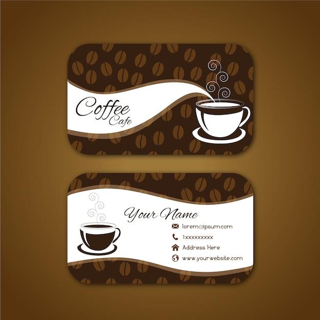 Carte De Visite Avec Design Cafe