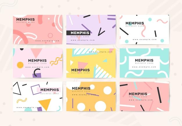Carte De Visite Design Mignon Vecteur gratuit