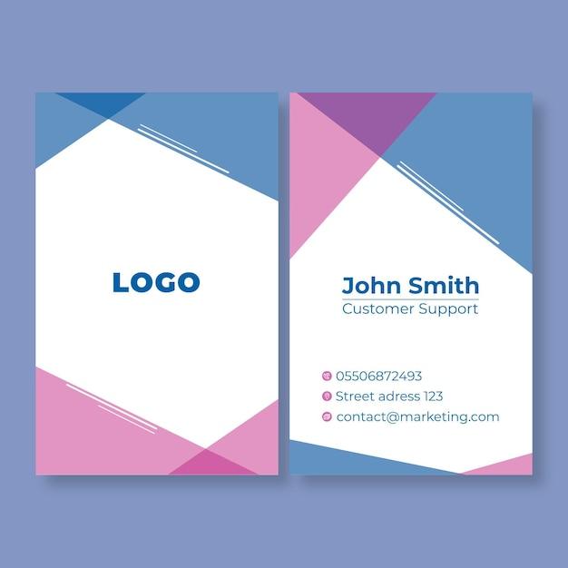 Carte De Visite Double Face Marketing Business Vecteur gratuit