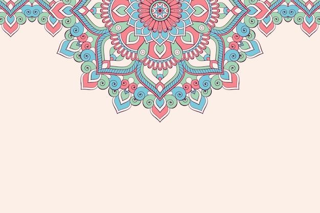 Carte De Visite. éléments Décoratifs Vintage. Cartes De Visite Florales Ornementales, Motif Oriental, Illustration Vecteur gratuit