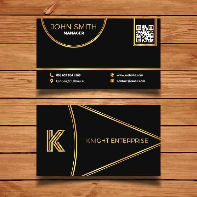 Carte De Visite Gold Et Black