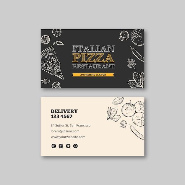 Carte De Visite De Modèle De Restaurant Italien Vecteur gratuit