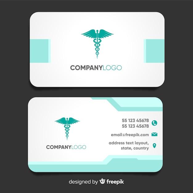 Carte de visite moderne avec concept médical Vecteur gratuit