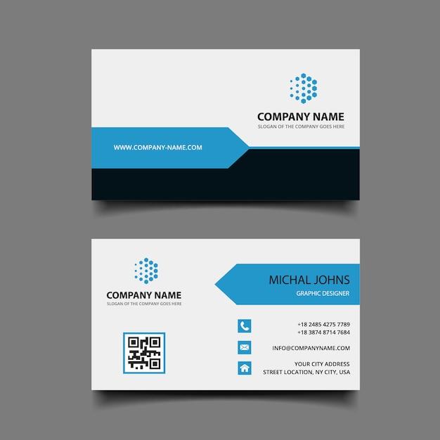 Carte de visite moderne Vecteur Premium