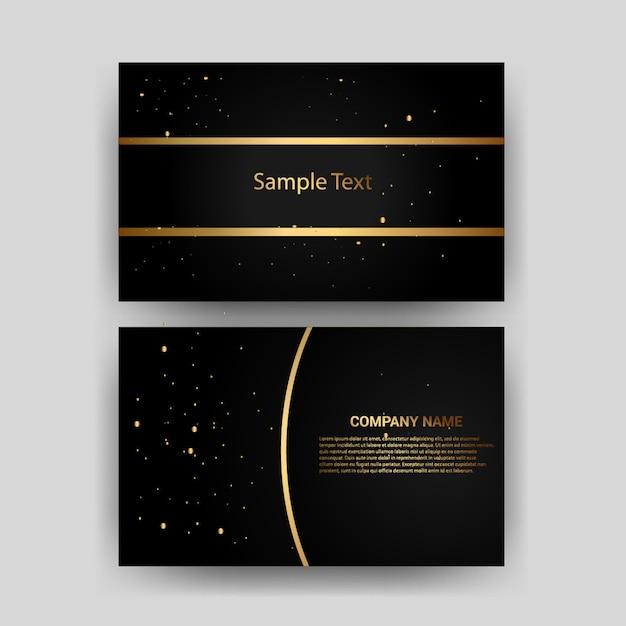 Carte de visite or avec élément de carte modèle créatif design Vecteur Premium