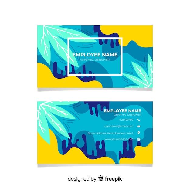 Carte de visite peinte à la main abstraite Vecteur gratuit