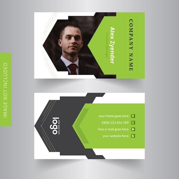 Carte de visite personnelle pour le bureau Vecteur Premium