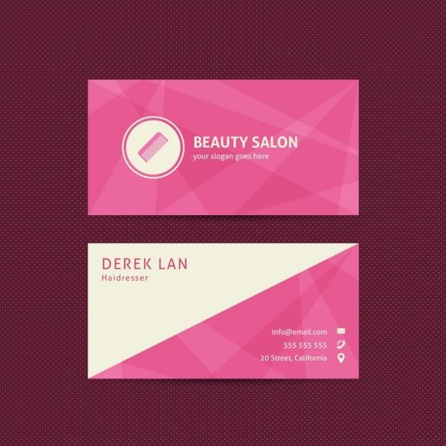 Carte De Visite Pour Les Salons Beaute Et Salon Coiffure