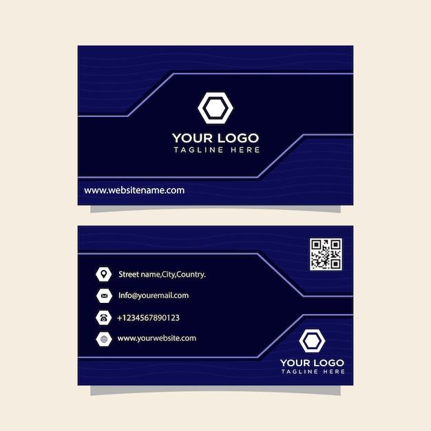 Carte de visite prête à imprimer Vecteur Premium