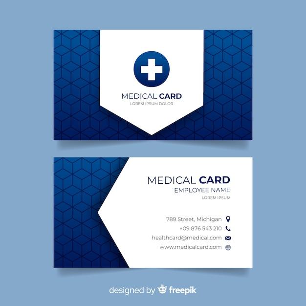 Carte de visite professionnelle avec concept médical Vecteur gratuit