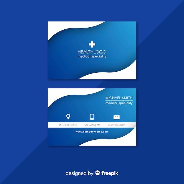 Carte de visite professionnelle avec conception médicale Vecteur gratuit