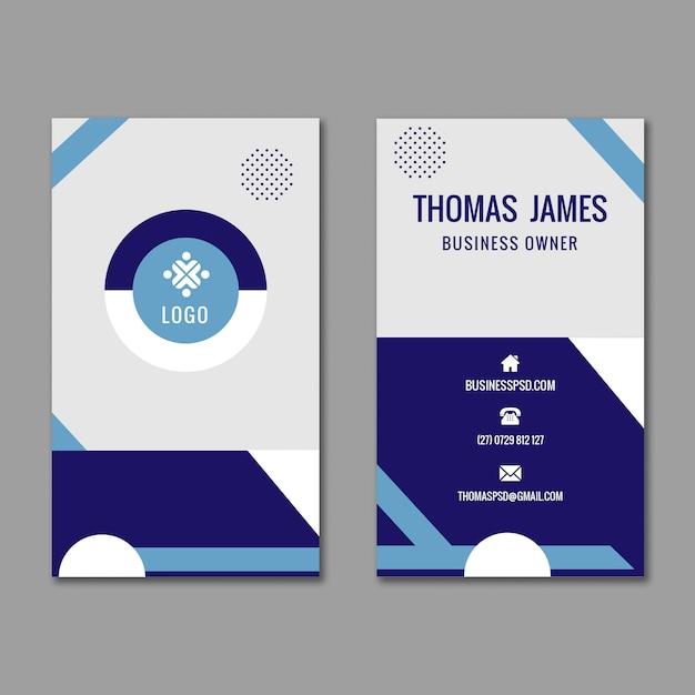 Carte De Visite Professionnelle Double Face Vecteur gratuit