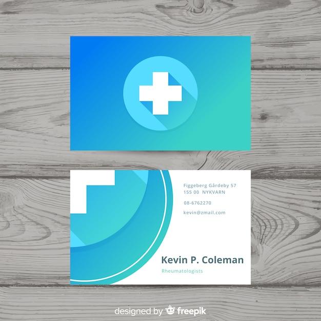 Carte de visite professionnelle moderne avec concept médical Vecteur gratuit