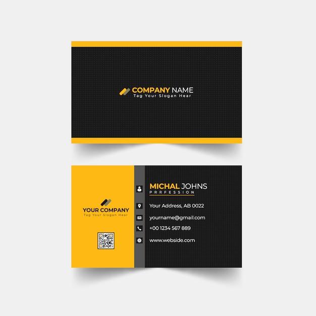 Carte De Visite Professionnelle Moderne Vecteur Premium