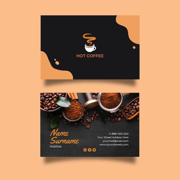 Carte De Visite Recto-verso De Café Vecteur Premium