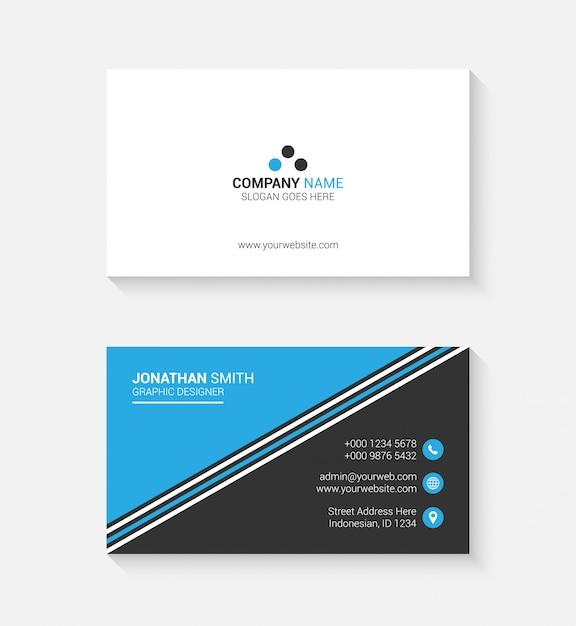 Carte de visite simple avec logo ou icône pour votre entreprise Vecteur Premium