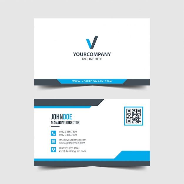Carte De Visite Vecteur Premium