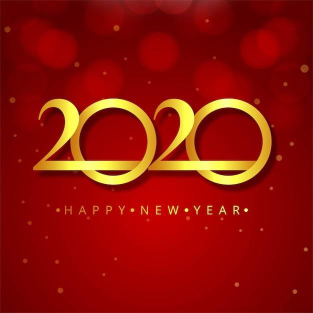 carte de nouvel an 2020 Carte De Voeux Abstraite Du Nouvel An 2020 | Vecteur Gratuite
