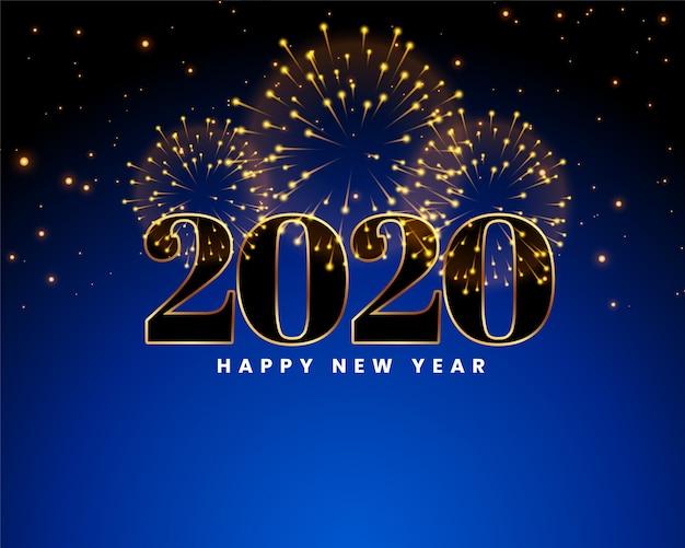 Carte De Voeux De Bonne Annee 2020 Vecteur Gratuite