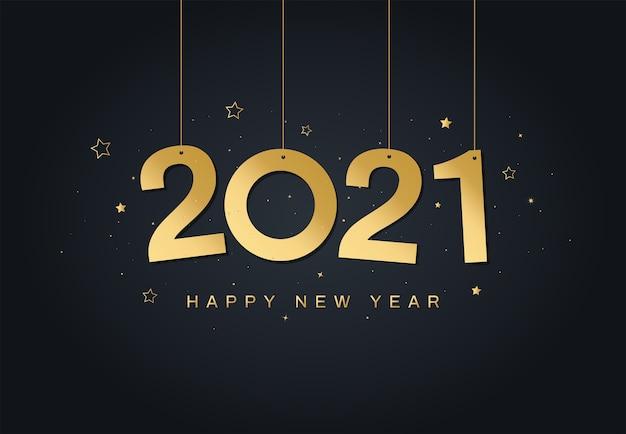 Carte De Voeux De Bonne Année 2021 Vecteur Premium
