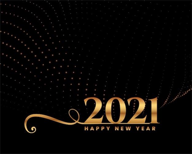 Carte De Voeux De Bonne Année Avec Numéros D'or 2021 Et étincelles Vecteur gratuit