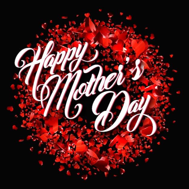 Carte de voeux bonne fête des mères Vecteur Premium