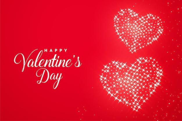 Carte De Voeux Coeur Romantique éclat Rouge Saint Valentin Vecteur gratuit