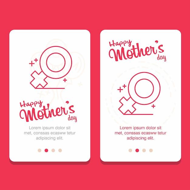 Carte de voeux fête des mères Vecteur gratuit
