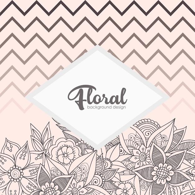 Carte de voeux avec des fleurs, aquarelle. image de vecteur Vecteur gratuit