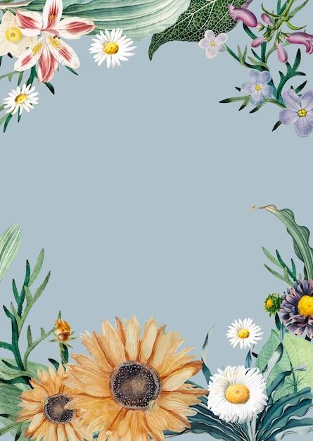 Carte de voeux en fleurs Vecteur gratuit