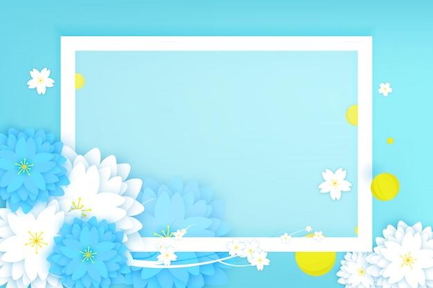 Carte de voeux florale découpée Vecteur Premium