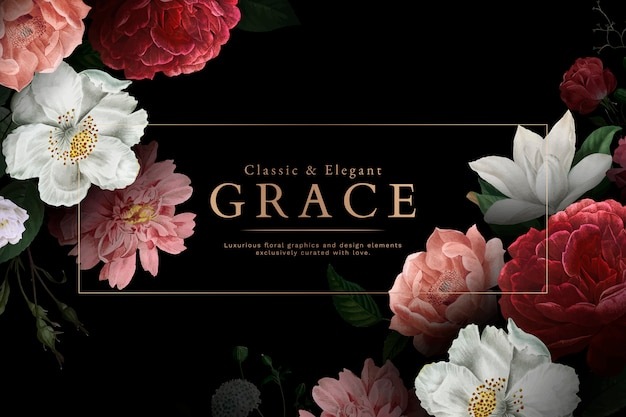Carte De Voeux Grace Vecteur gratuit